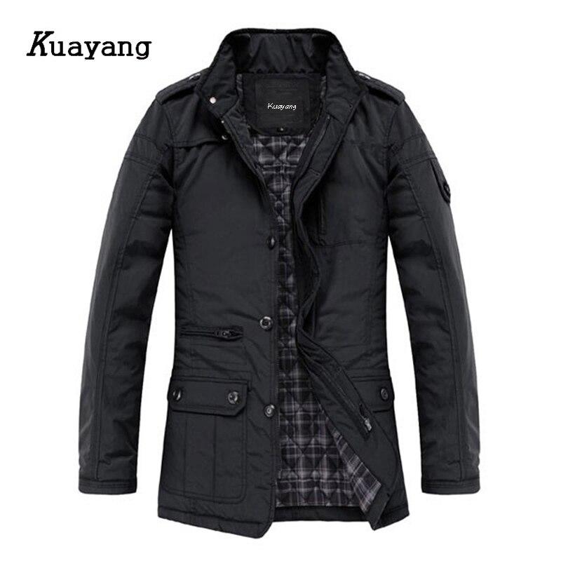 2015 Fashion Winter Style Men Cotton Coat Keep Warm Jacket Big Size Casual Wear BKDZ001