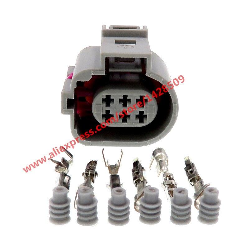 20 Sets 6 Pin 1J0973713G Automotive Connector 1.5 Waterproof Auto Plug 1J0 973 713 G For VW