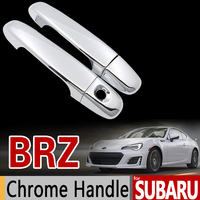 For Subaru BRZ Luxurious Chrome Handle Cover Trim Set 2Door 2012 2013 2014 2015 2016 2017