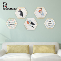 ROOGO bird wall decoration living rooms decor office background stickers unique creative design 4 forms gift for new house