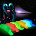 5 Цветов Неон Люминесцентная УФ-Краска Для Тела Растут В темное Лицо Живопись Световой Акриловые Краски Искусства для Партии и Хэллоуин Сделать до