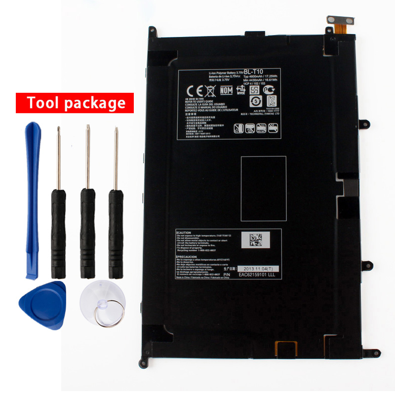 Original High Capacity <font><b>BL</b></font>-<font><b>T10</b></font> Internal Battery for LG GPAD G PAD 8.3 <font><b>BL</b></font>-<font><b>T10</b></font> VK810 V500 4430mAh image