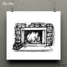 ZhuoAng Warm fireplace Clear Stamp for Scrapbooking Rubber Stamp Seal Paper Craft Clear Stamps Card Making