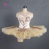 Amazing Cream classical ballet tutu girl stage performance pancake ballet tutu ballerina dance costume women girl ballet tutu
