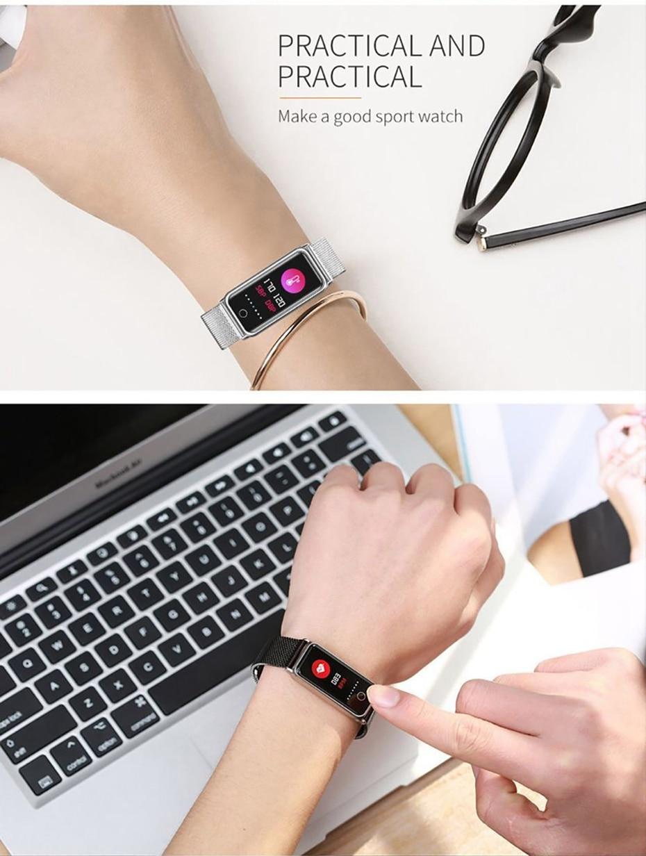 Y8 Smart Watch Stainless Steel Women Sports Touch Screen Health Bracelet Ons Men Fitness Bracelet for Measuring Pressure Fitness 2018 2019 (22)