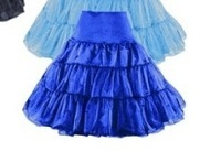 Free Shipping walson Blue in stock hot selling rockabilly petticoat Vintage Petticoat Rockabilly Tutu Skirts size S 2XL