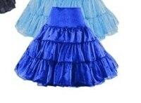 Frete Grátis walson Azul em estoque venda quente rockabilly anágua Anágua Rockabilly Do Vintage Saias Tutu tamanho S-2XL