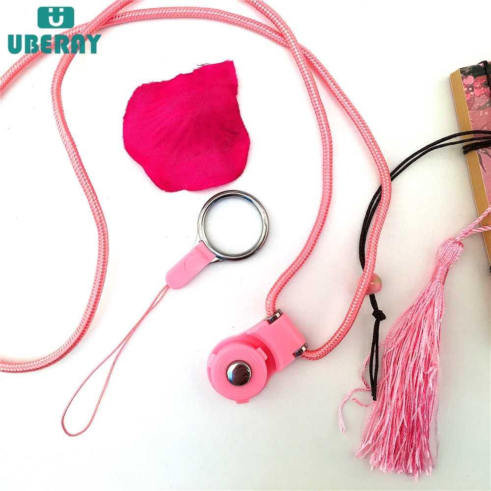 Cordón desmontable Universal de moda para accesorios de teléfono correas de cuello llavero rotación de cadena de teléfono insignias colgantes largas