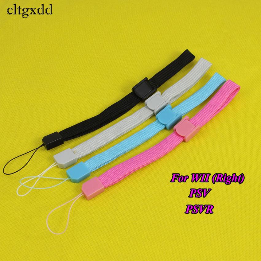 Cltgxdd preto/cinza/azul/rosa alça de pulso correia de mão para wii wiiu controle remoto para ps3 movimento/psv para 3ds