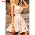 OOTN sexy solid color bodycon dress dresses women bar set slip bra and a-line dress street style summer holiday outfits
