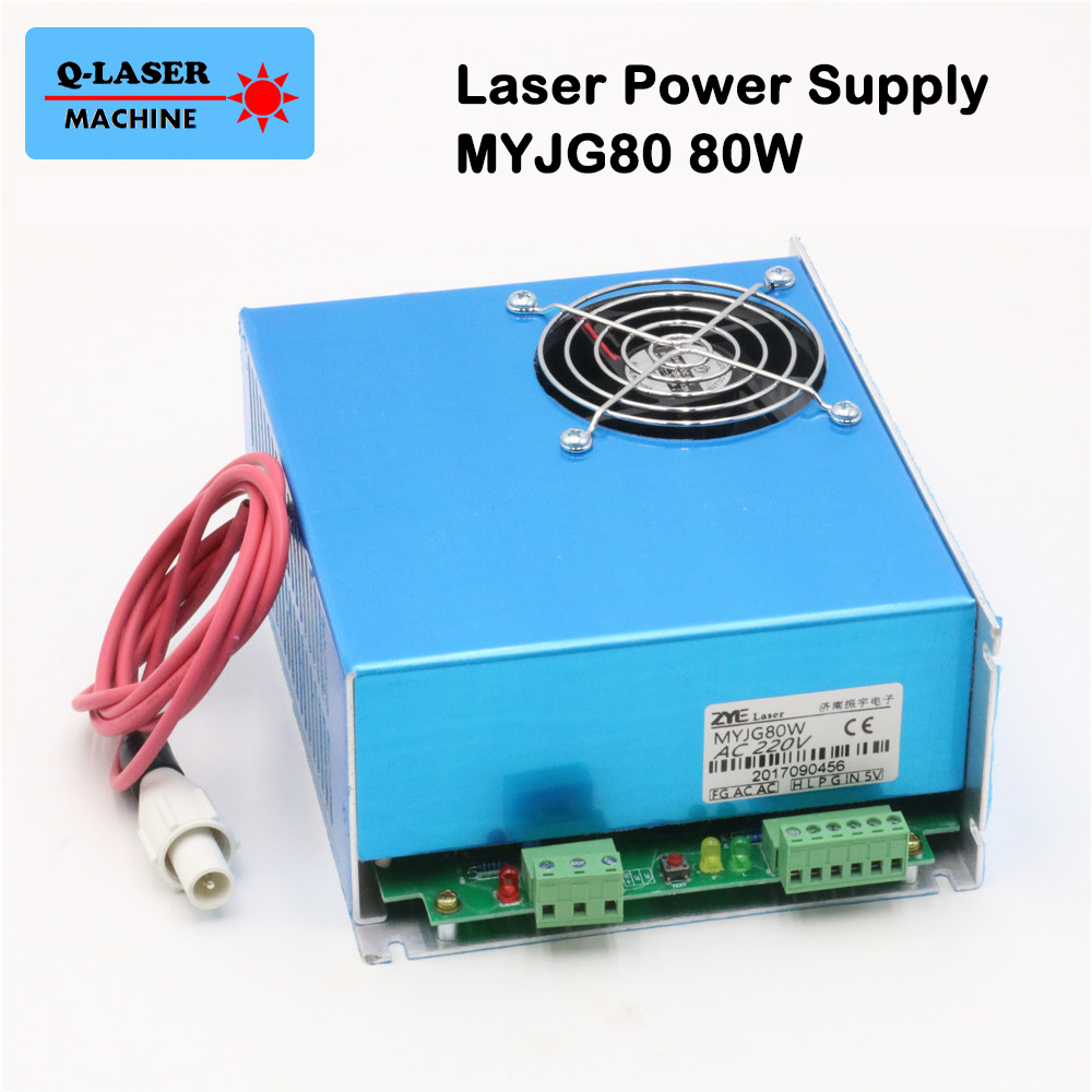 цена 80W CO2 Laser Power Supply MYJG-80 for Reci Laser Tube S2 and CO2 Laser Engraving Cutting Machine онлайн в 2017 году