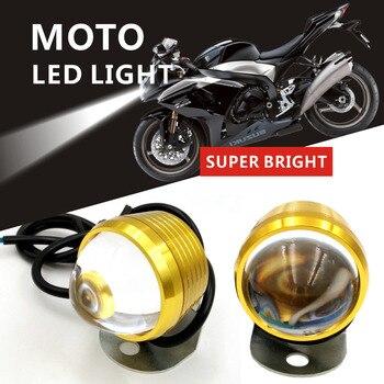 2ピース超明るいオートバイヘッドライト3000LM防水AUto駆動モータースポットヘッドランプフォグライトファロモトユニバーサル12 v hjg ledフォグランプ