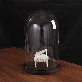 Free Shipping 15*25cm Black Base Glass Dome Home Decoration Diameter=15cm Height=25cmGlass Dome Gift Wedding Decoration