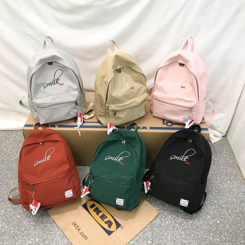 Women High Quality Backpack Bagpack Female Nylon Designer Backpacks Bagpack Schoolbag For Teenage Girls Back Pack Bookbag in Backpacks from Luggage Bags