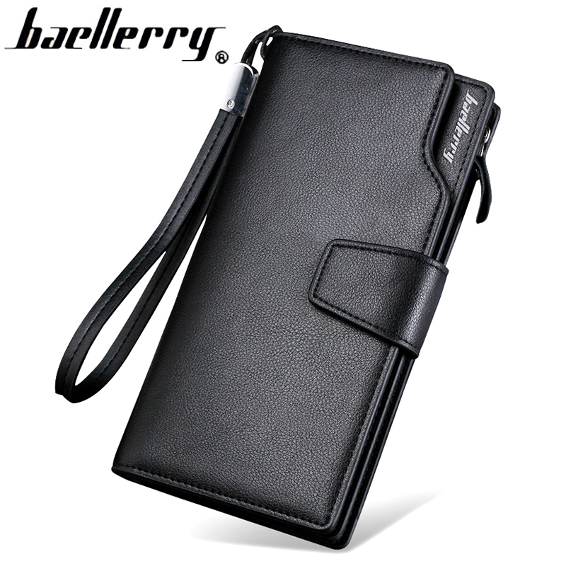 Baellerry Wallet Men Top Quality Leather Wallet Purse Fashion Casual Male Clutch Zipper Bag Brand Wallets Men Multifunction ! iphone 6 plus kılıf