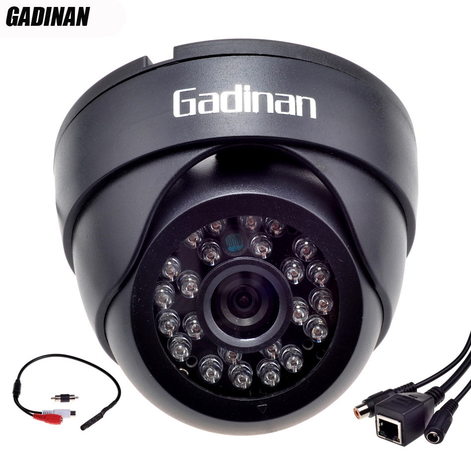 Gadinan ONVIF Wired Audio IP Camera H.264 720P/960P H.265 1080P Network P2P CCTV Indoor Dome Camera With External Audio Pickup gadinan ip camera poe onvif 1080p 2mp 960p 720p h 265 h 264 wired home network video outdoor bullet wide angle security rtsp