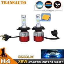 Par 72 W h7 LED Headlight Kit de Conversión de Faros de Coches Auto COB CSP h8/h9/h11 9005 9006 hb3 hb4 h1 h3 h4 8000LM Luz de Niebla DRL