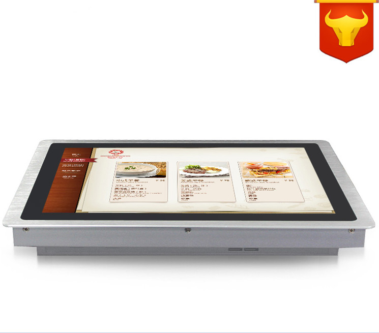 15 Inch Touchscreen PC All In One Computers With 5 Wire Touch 4: 3 2COM LPT LED Touch 4G RAM 320G HDD Dual 1000Mbps Nics