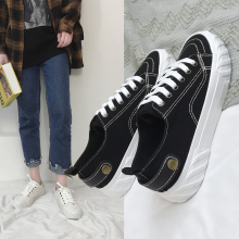 Spring/Autumn New Women Flats Shoes Canvas Oxfords Fashion Casual Shoes Woman Lace-up Solid Low-cut Ladies Shoes High Quality male casual shoes high quality lace up oxfords men flats spring autumn breathable driving shoes aa30065