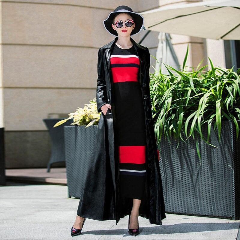 Poitrine Femmes Pu En Cuir Pardessus Taille Manteau Unique 2018 Manteaux Casual Qualité Tranchée Plus Haute Mode Dames La De Homme xYFnq6vfpw