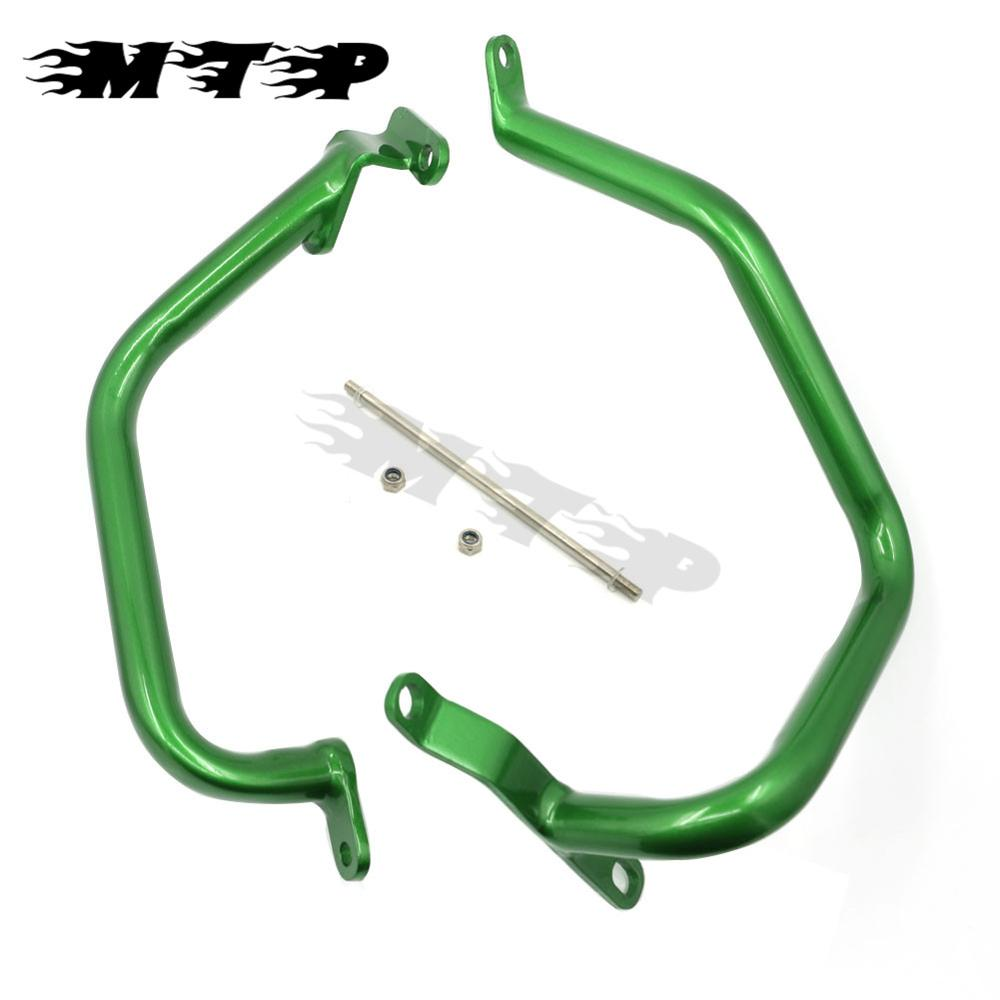 Motorcycle Green Crash Bars Frame Engine Bumper Protector Guard Steel For Kawasaki Z1000 2010 2011 2012 2013 2014 2015 2016 motorcycle radiator protective cover grill guard grille protector for kawasaki z1000sx ninja 1000 2011 2012 2013 2014 2015 2016