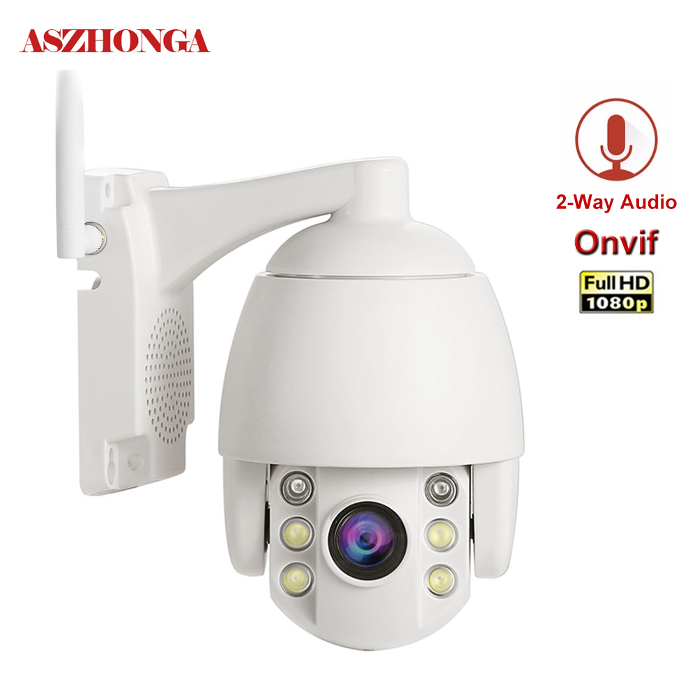 Mini PTZ Speed Dome Security IP Camera Outdoor Wireless Outside CCTV Wifi Camera Waterproof IR Night