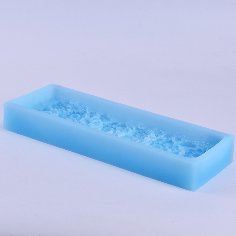 Flat Silicone Soap Mold with Decorative Patterns on the Bottom for Craft Handmade DIY in Soap Molds from Home Garden