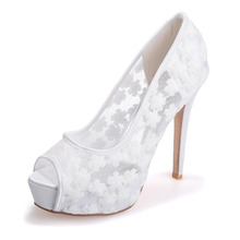 Sexy perspective lace high heel stiletto platform peep open toe shoes summer style pumps see through party wedding prom blue
