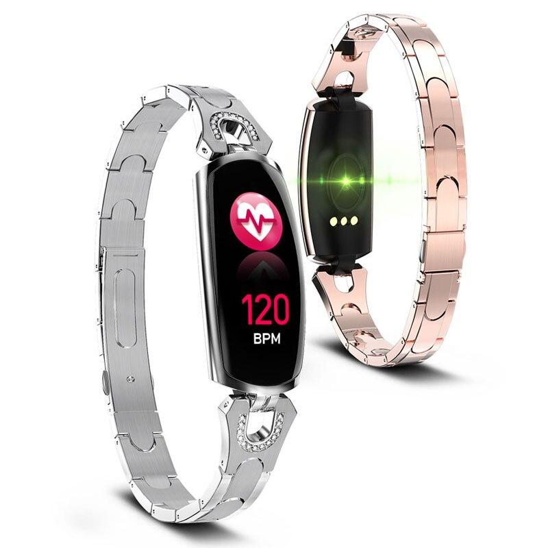 2019 nouvelle montre femme Bluetooth étanche sport montre intelligente femme horloge fréquence cardiaque montres intelligentes Android Apple Ios Relogio chaud