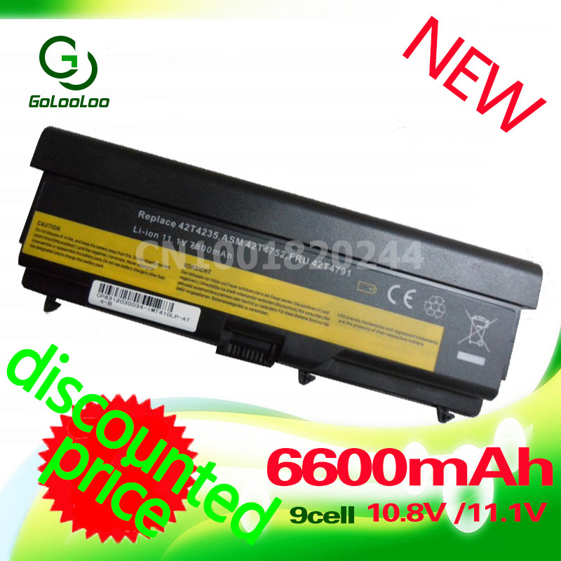 Golooloo 6600MAh battery For ThinkPad Edge E40 E50 L410 L412 L512 L420 L421 L510 L520 SL410 SL510 T410 T420 T510 T520 W510 W520 20v 6 75a 135w original ac adapter charger laptop power supply for lenovo thinkpad t530 t520 w530 w520 w510 3pin 45n0059 45n0055