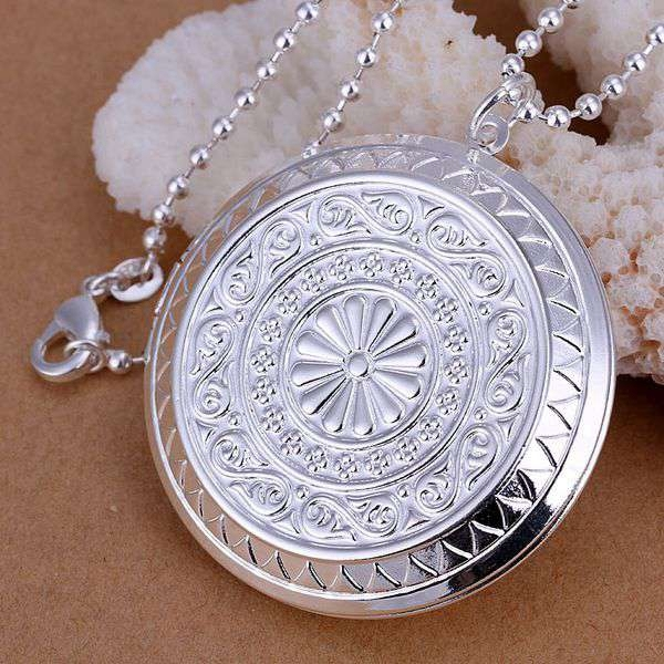 wholesale for women s men s fashion jewelry chains necklace silver plated  pendant photo frame pendant necklace 178ca310c