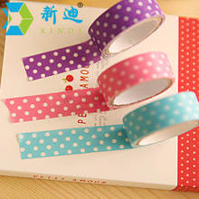 XINDI 1.5mm*300mm Creative Simple Polka Dot Washi Tape 8 Colors DIY Album Paper Stickers Office Decorative Adhesive Tape