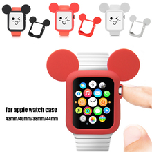 Cartoon mickey watch case for apple 4 40mm&For 38mm screen Protector Cover iwatch 44/42mm serie 3 2 1