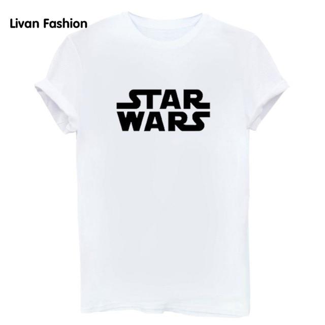 Star Wars Letters Print Women T-shirt