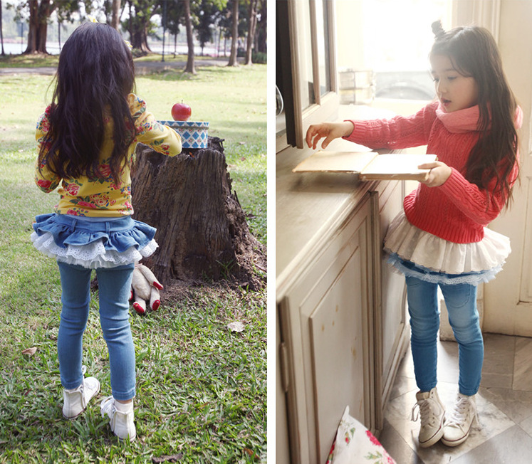 SAMGAMI-BABY-Baby-girls-spring-and-autumn-long-jeans-pants-female-child-lotus-leaf-denim-skirt-pants-legging-Culottes-5