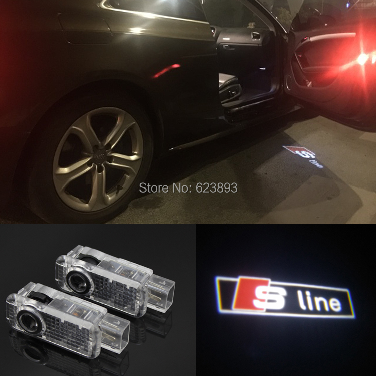 LUMAND 2 Pack Car Door LED Ghost Shadow Projector Welcome Logo Courtesy Light Compatible with Audi Series