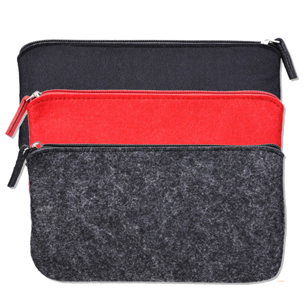 Felt Pencil Cases Cosmetic Makeup Storage Toiletry Bags Pouch Zipper Pen Bags Pouch For Stationary   Coin Small Items Storage