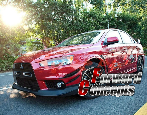 FOR CARBON FIBER 2008 2015 Lancer Evolution EVO 10 X Varis Style Front Bumper Canards 4pcs in Body Kits from Automobiles Motorcycles