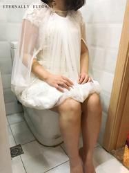 Бесплатная доставка собрать юбка скольжения новый свадебное платье Бадди Нижняя спасает вас от туалетной воды 2018 EE901