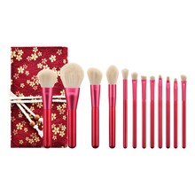 Get more info on the 12Pcs Rubies Blush makeup brushes Set Eyeshadow Brush Makeup Brush Included Brush Kit chinese style Cosmetics Beauty Tools