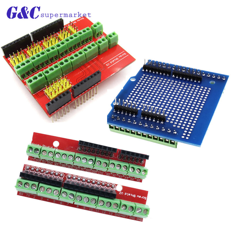 Proto Screw Shield V2/V3 Assembled prototype terminal expansion board for Arduino UNO R3