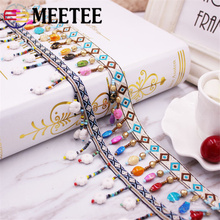 5Yards 1cm Meetee New Lace Ribbon tassel lace DIY clothing scarf bags textile Sewing accessories AP2152