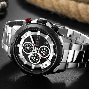 Image 5 - العلامة التجارية الفاخرة للرجال CURREN موضة جديدة ساعات رياضية غير رسمية رجالي كوارتز سوار فولاذي غير قابل للصدأ ساعة اليد الذكور Reloj Hombres