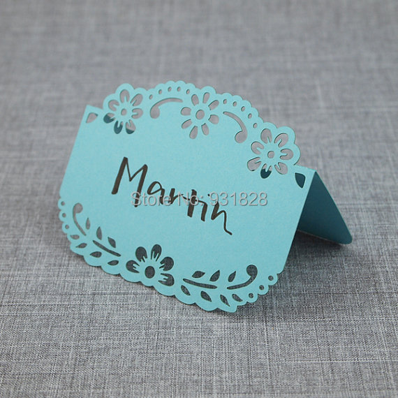papel picado place card for weddings events ocean wedding escort seating cards baby shower table number - Wedding Escort Cards