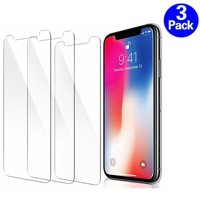 3PCS Screenprotector Tempered Glass for IPhone X XR XS Max 8 7 6 6S Plus 5 5S SE Screen Protector Film Phone Verre Tremp Coque(China)
