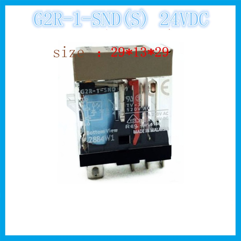 US $14 24 5% OFF|G2R 1 SND(S) DC24V 24VDC 10A OMRON relay one open one  closed 5 needle electronic component solid state relays-in Relays from Home