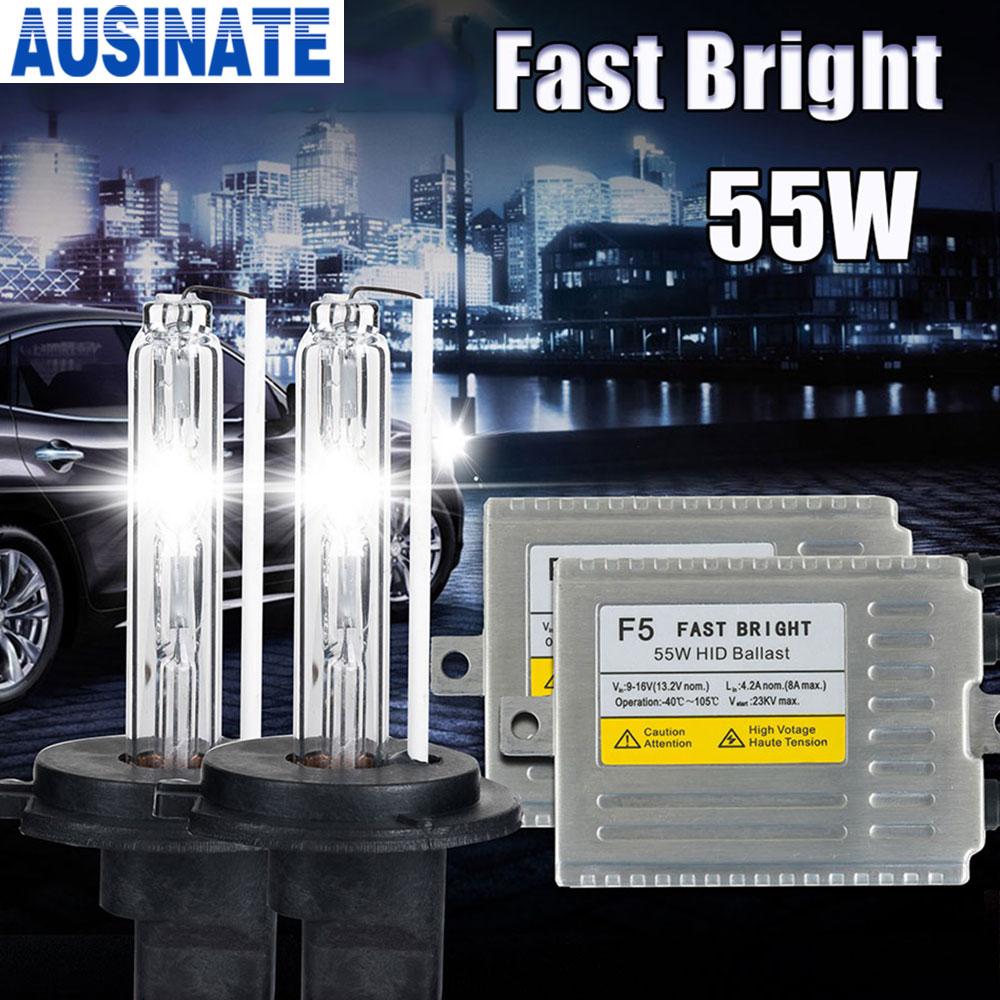 F5 12 v 55 w 0.1 seconde rapide lumineux H1 H3 H4-1 H7 H8 H9 H10 H27 881 9005 9006 AUTO HID kit XÉNON, 55 watts caché kit xénon 4300 k 6000 k