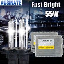 F5 12v 55 w 0.1 segundo rápido brilhante h1 h3 H4 1 h7 h8 h9 h10 h27 881 9005 9006 kit de xenônio escondido automático, 55 watt hid xenon kit 4300k 6000k