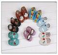Nova moda Bebê Mocassins de Couro de Vaca Genuína Flor Sapatos de Bebê Menina Recém-nascidos Berço Infantil Calçados Infantis Primeiros Caminhantes Frete Grátis