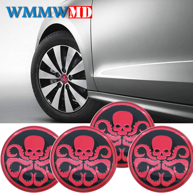 Hydra octopus skull car steering tire wheel center car sticker hub cap emblem badge decals symbol